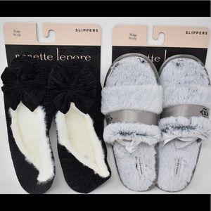 Nanette Lepore slippers XL (9.5-10.5) 2 pair